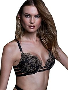 9fc64c692e Victoria s Secret Chantilly Lace Unlined Demi Bra Strappy Cut Out 34 C