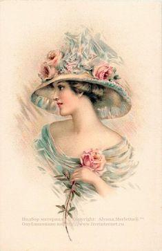 Винтажные дамочки ... декупажные карты (vintage ladies). Обсуждение на LiveInternet - Российский Сервис Онлайн-Дневников