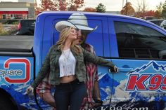 Lauren Alaina with K99 Truck at Boot Grill