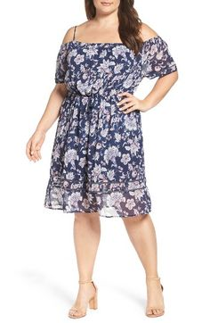 Free shipping and returns on Lucky Brand Drawstring Waist Cold Shoulder Dress (Plus Size) at Nordstrom.com. Perfect for sunny soirées, this pretty chiffon dress is lightly smocked at the off-the-shoulder neckline and gathered at the waist to create a flirtatious silhouette that shows off your shoulders and flatters your figure.