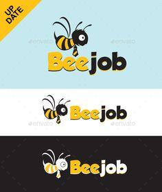 Bee Job  Logo Design Template Vector #logotype Download it here: http://graphicriver.net/item/bee-job-logo/5305348?s_rank=1060?ref=nexion