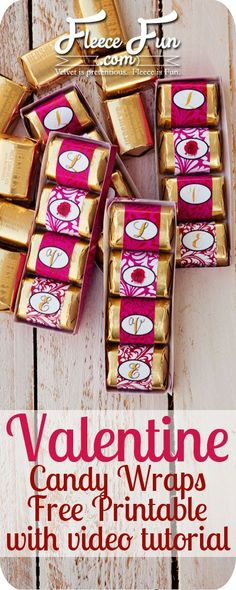 Really classy - Valentine Candy Wraps free printable ♥ Thank you to Fleece Fun My Funny Valentine, Easy Valentine Crafts, Valentines Day Treats, Kids Valentines, Holiday Crafts, Valentine Gifts, Holiday Decor, Holiday Ideas, Christmas Ideas