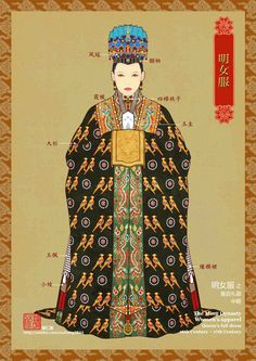 Formal chinese hanfu for empress in Ming dynasty