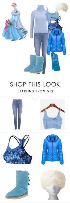 """""""Cinderella: White Snowy Holiday"""" by andyarana ❤ liked on Polyvore featuring Disney, Paige Denim, N.Peal, New Balance, WithChic, UGG Australia and Portolano"""
