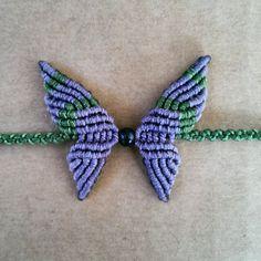 Bracciale farfalla in macramè / Butterfly macramè di KnotsDrill