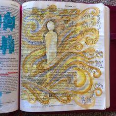 Transfiguration and Clouds. Draw Close Blog. Bible art, Bible journaling, devotion, study.