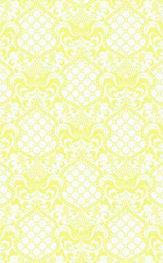 Tapet 90502: Brocade Yellow från Jonathan Adler - Tapetorama