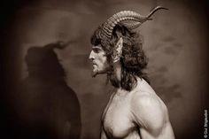 Pan Photo - by Gui Brigaudiot Magical Creatures, Fantasy Creatures, Pan Photo, Fantasy Costumes, Fantasy Inspiration, Greek Gods, Green Man, Gods And Goddesses, Faeries