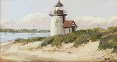 Nicholas Berger, Lands Ends, Brant Point, 2010, oil on board, 4 X 6 1/2 inches