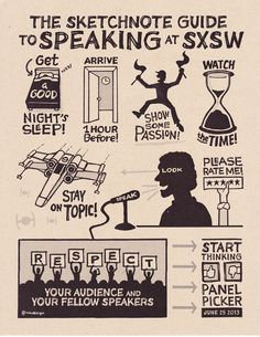 The Skechnote Guide to Speaking at SXSW #infographics #startup #speaker