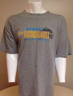 Denver Nuggets Gray X-Large Short Sleeve Tee T-Shirt XL #DenverNuggets