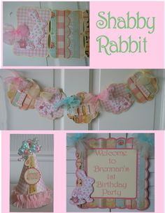Shabby Chic Rabbit Petite 1st Birthday Party by ASweetCelebration