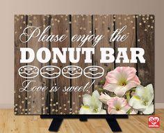 Printable Wedding Sign Donut Bar Wedding by OhBoyLoveItDigital