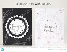 Silhouette America Blog | Free Design of the Week tutorial (scrapbook layout ribbon)