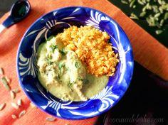 Pipián Verde con Pollo - lacocinadeleslie.com