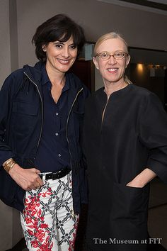 Inès de la Fressange with Valerie Steele at Museum at FIT event
