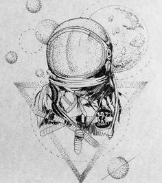 """Astronaut! 17cm.  #astronauttattoo #spacetattoo #planetstattoo…"""