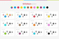 Create diverse Powerpoint presentations with 12 different color otions.