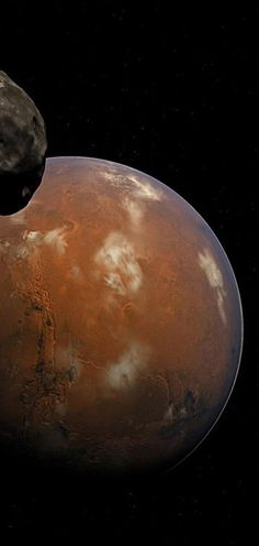 Orbiting a mere 3,700 miles above the surface of Mars, Phobos is closer to its planet than any other moon in our solar system. Mars' gravity is drawing in Phobos by about 6.6 feet every 100 years. Scientists expect Phobos to be pulled apart in 30-50 million years by tidal forces, the mutual gravitational pull of the planet and the moon. The same fate may await Neptune's moon Triton, which is also slowly falling inward towards its planet. (NASA/JPL-Caltech/University of Arizona)
