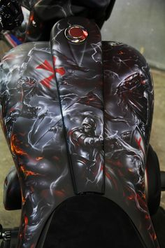 Airbrushed Knights Templar Motorcycle - Painted by Mike Lavallee of Killer Paint - www.killerpaint.com