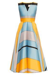 Roksanda Lovell block-colour jacquard dress