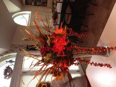 Fall floral decorations Wedding Pumpkins, Pumpkin Wedding, Floral Decorations, Table Decorations, Fall Decorating, Favorite Holiday, Sweet Home, Thanksgiving, Decor Ideas