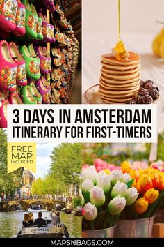 Your best guide to spend 3 days in Amsterdam! Including all information you need such as where to stay, where to eat, how to get around, a free map, and much more! Check this 3 days in Amsterdam itinerary for first-timers! #Netherlands #Amsterdam # travel #europe #holland #winter #summer #thingstodo