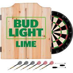 Trademark Gameroom Bud Light Lime-A-Rita 2 Shelf Portable Bar with Case