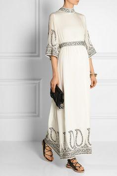 Vilshenko Monika embroidered silk maxi dress NET-A-PORTER.COM