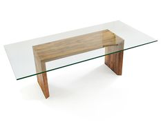 Rotsen Furniture Glass Top Canela Double Fold Dining Table