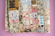 I love quilts like this.  They look cool but even better, no one can see any mistakes.