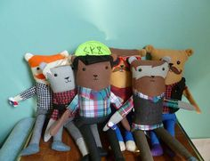 Make Your Own Hipster Plush Bear by LetsBeFriends on Etsy, $100.00