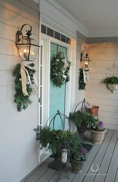 Christmas Porch Tour 2014- The Painted Chandelier