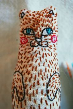 embroidery + cat