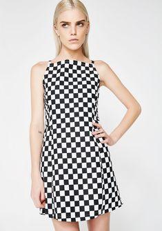 389a7525d6 LOVE TOO TRUE Checkered Zip It Dress cuz ya got the need for speed. Live
