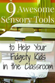 Sensory Tools for Classroom #spd #adhd #sensory