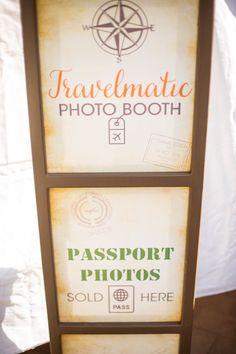 Photo Booth from a Vintage Travel Bar Mitzvah Party via Kara's Party Ideas - KarasPartyIdeas.com (3)