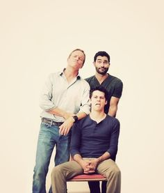 Looks like a family portrait: Papa Stilinski, Stiles and cousin Miguel -cousin Miguel hahaha!!!