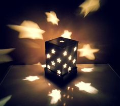 Diy Cardboard Lamp Shade • Free tutorial with pictures on how to make a lamp / lampshade in under 40 minutes