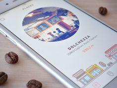 Main screen (coffee app) by Cuberto