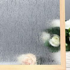 Decorative Films Home Decor Privacy Window Film Matte Film Window Sticker White Matte Window Protection Non-stick Privacy Office Meeting Room Bathroom Bed Can Be Repeatedly Remolded.