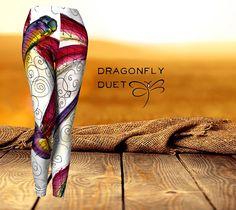 'Dragonfly Duet' women's 'ArtWear' Leggings
