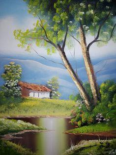 38 ideas landscaping illustration geometric for 2019 Landscape Illustration, Watercolor Landscape, Landscape Art, Landscape Paintings, Beautiful Scenery Drawing, Beautiful Paintings, Beautiful Landscapes, Japanese Garden Zen, Canvas Painting Tutorials