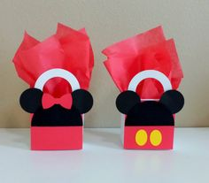 10 Minnie & Mickey Mouse Red Favor Boxes by CutePartySupplies
