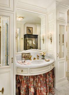 Cottage Living Bath Eclectic by Linda L Floyd Inc Interior Design Bad Inspiration, Bathroom Inspiration, Dream Bathrooms, Beautiful Bathrooms, Sink Skirt, Cottage Living, French Decor, New Homes, House Design