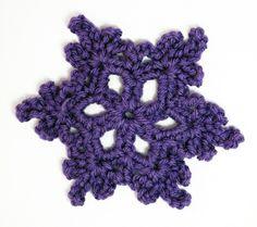 Crochet snowflake tut
