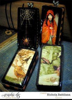 An Eerie Tale domino pendants - Nichola Battilana