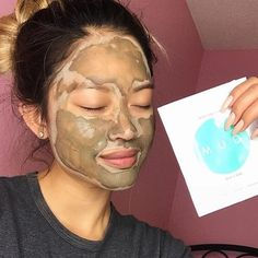 """Friday night perfection 👽 """"This is my favourite natural mud mask. It draws all the impurities out of my skin' it doesn't seem you have any impurities but we will take the compliment 😘😘😘 Mud, Compliments, Carnival, Friday, Photo And Video, My Favorite Things, Night, Natural, Face"""