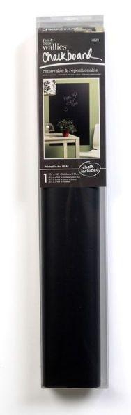 "Wallies Gray Peel & Stick Big Chalkboard with Chalk 25"" x 38"""