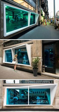 KISSMIKLOS Design A Storefront To Look Like An Aquarium